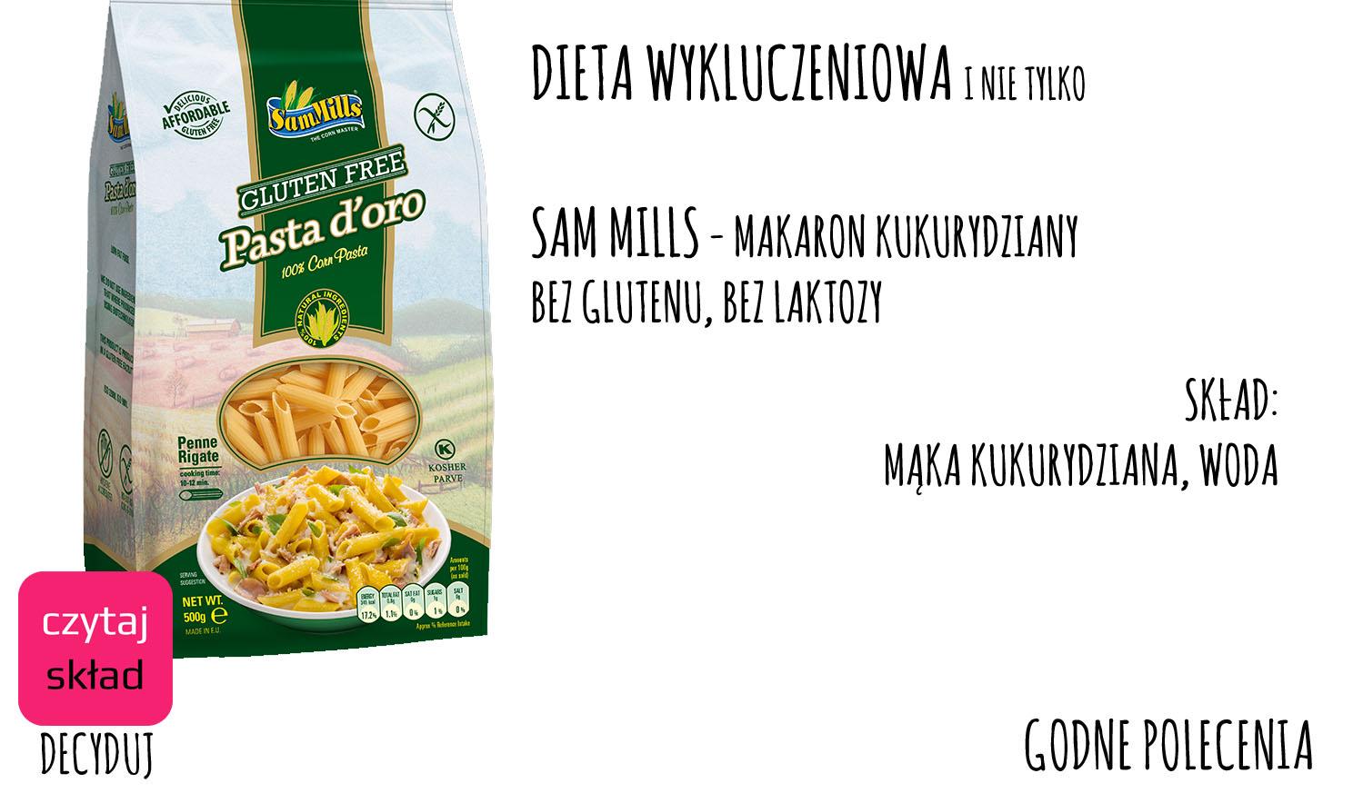 Sam Mills - makaron kukurydziany
