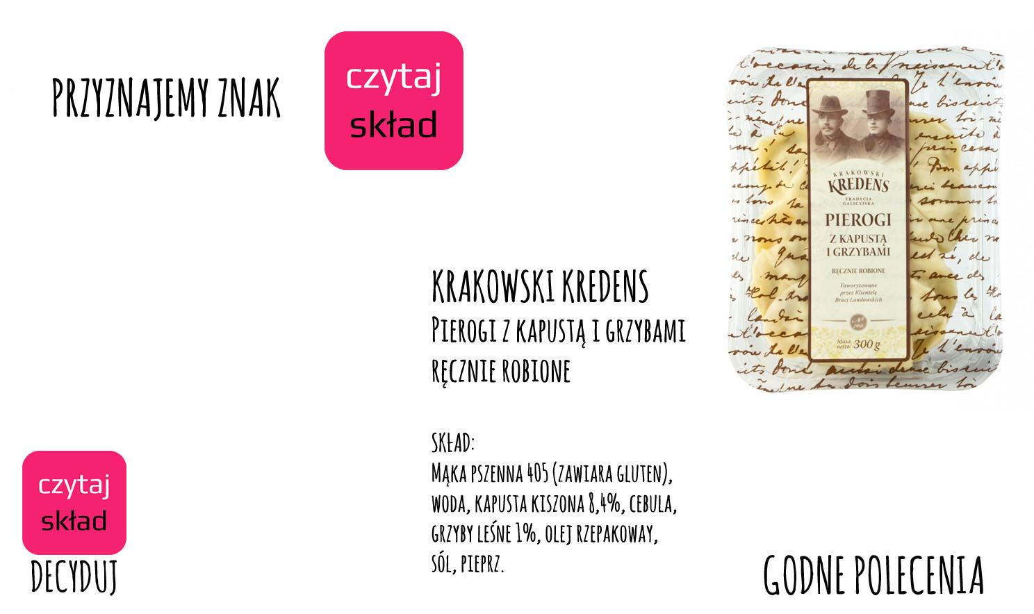 Krakowski Kredens - pierogi z kapustą i grzybami