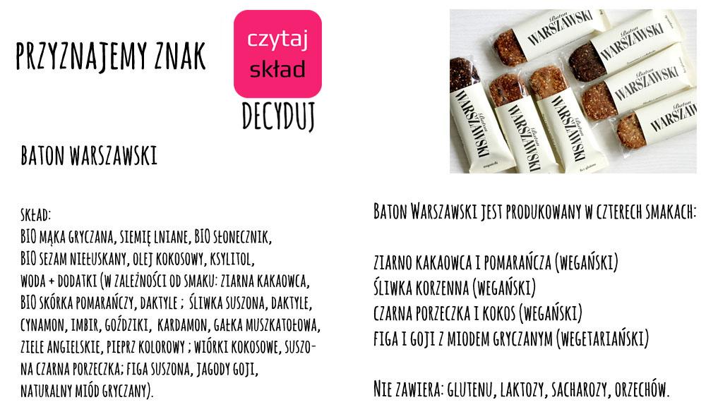 Baton Warszawski - znak Czytaj Skład