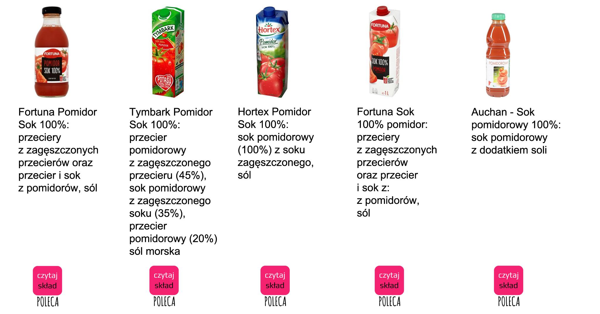 sok pomidorowy 2 pop