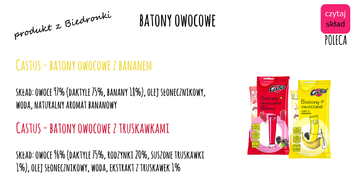 castus- batony owocowe