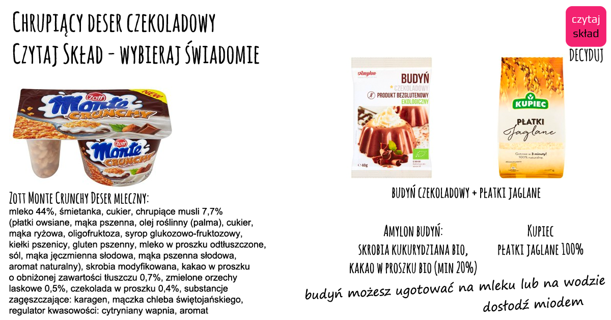 deser czekoladowy chrupiący