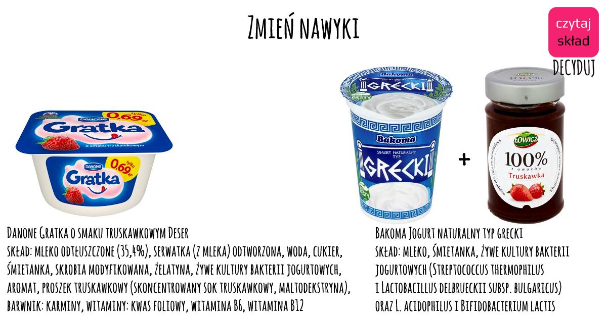zmień nawyki jogurt