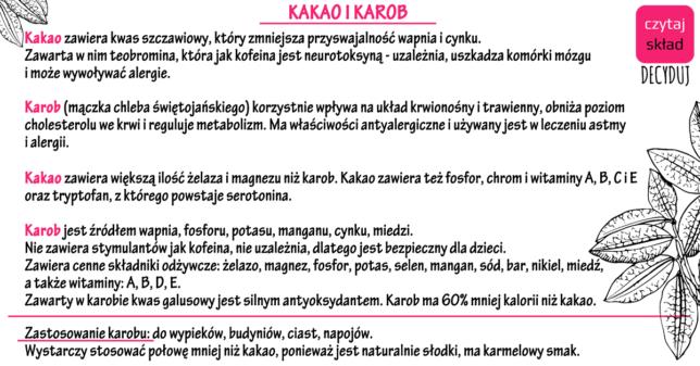 Kakao i Karob