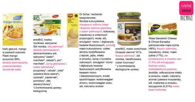 Produkty z półki