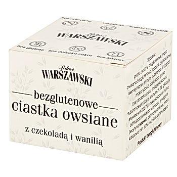 Łakoć Warszawski Bezglutenowe ciastka owsiane z czekoladą i wanilią