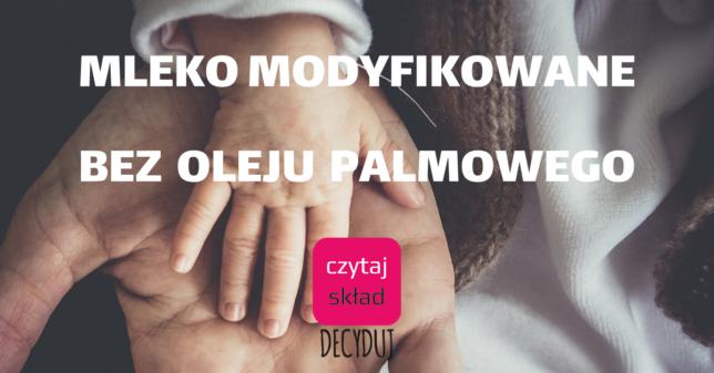 mleko modyfikowane bez oleju palmowego