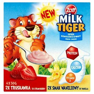 Zott Milk Tiger Serek homogenizowany truskawka smak waniliowy