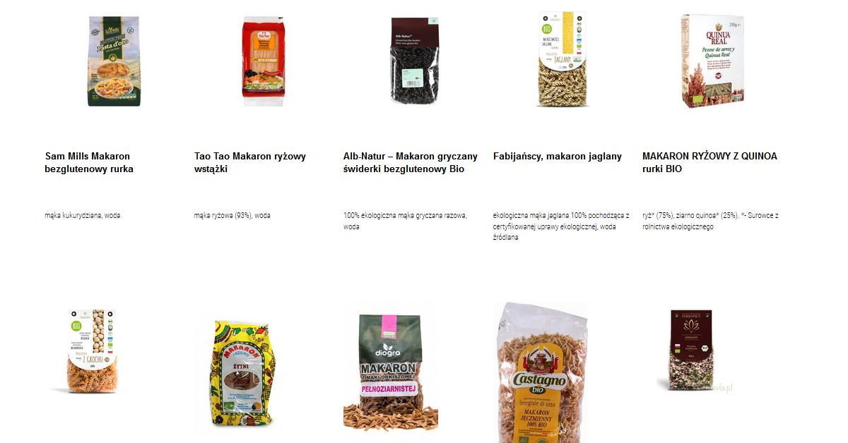 makarony bez pszenicy por243wnanie produkt243w na czytaj sk�ad