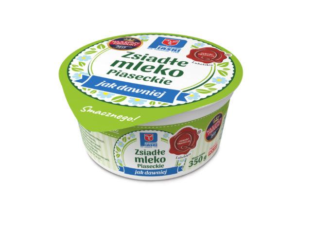 Zsiadłe mleko Piaseckie jak dawniej miska 350g OSM Piaski