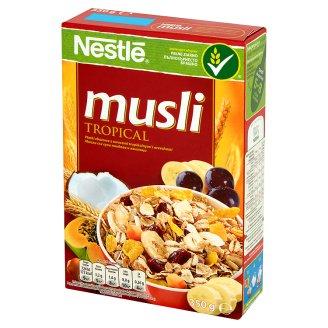 Nestlé Musli Tropical Płatki zbożowe z owocami tropikalnymi i orzechami