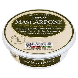 Tesco Mascarpone Pełnotłusty ser miękki