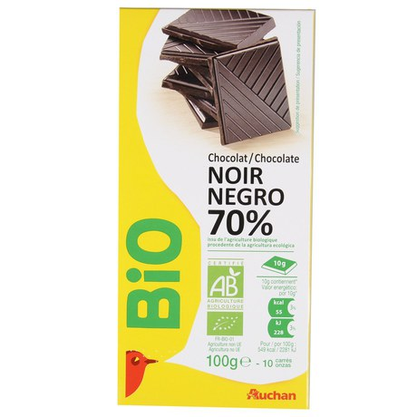 Auchan - Czekolada Bio gorzka 70%