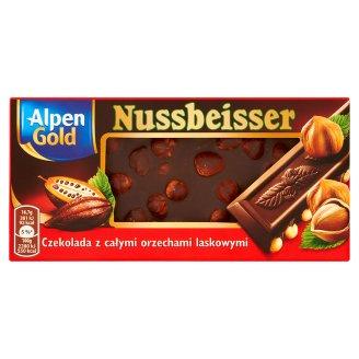 Alpen Gold Nussbeisser Czekolada gorzka z całymi orzechami