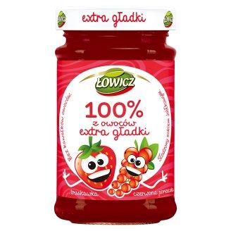 Łowicz 100% z owoców Extra gładki truskawka czerwona porzeczka