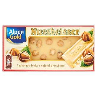 Alpen Gold Nussbeisser Czekolada biała z całymi orzechami