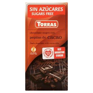 Torras Czekolada gorzka z ziarnami kakao bez dodatku cukru