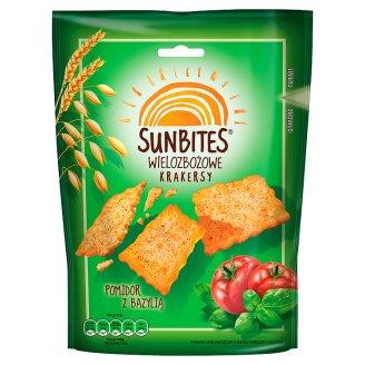 Sunbites Wielozbożowe krakersy pomidor z bazylią