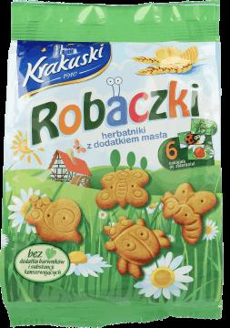Krakuski, Robaczki, herbatniki z dodatkiem masła