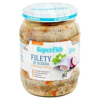 SuperFish Filety ze śledzia z krojoną cebulką