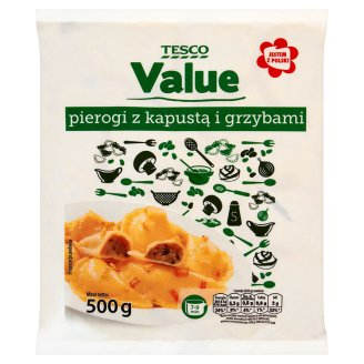 Tesco Value Pierogi z kapustą i grzybami