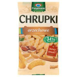Jesteś tutaj: Strona główna › Artykuły spożywcze › Przekaski słone › Chipsy, chrupki, prażynki Przysnacki Chrupki orzechowe