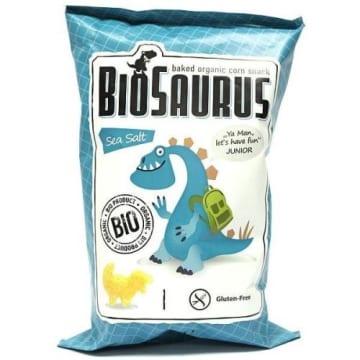 BIO SAURUS Chrupki kukurydziane z solą morską BIO