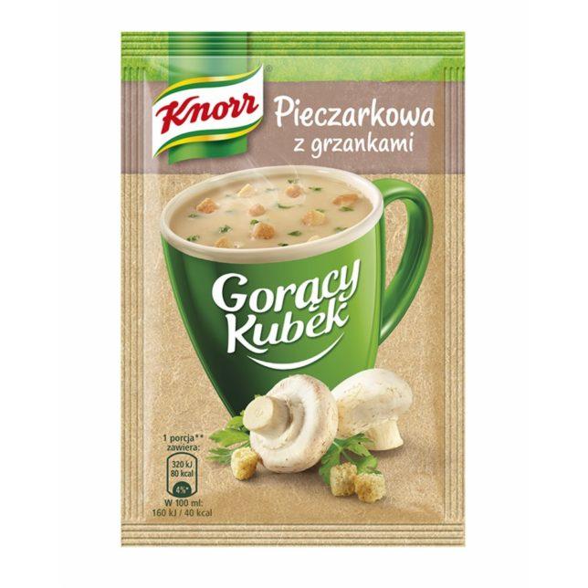 Knorr Gorący Kubek Pieczarkowa z grzankami