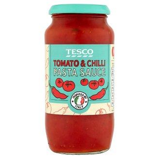 Tesco Sos pomidorowy do makaronu z cebulą i czerwoną papryczką chili średnio pikantny