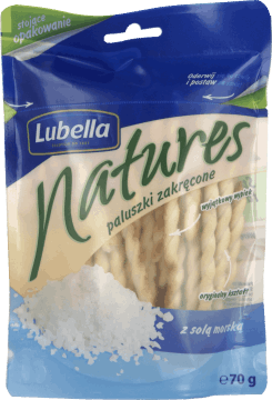 Lubella, Natures, paluszki zakręcone z solą morską