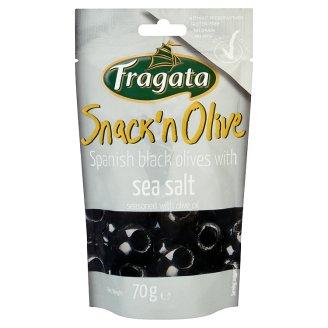 Fragata Snack'n Olive Oliwki czarne drylowane z oliwą z oliwek i solą morską