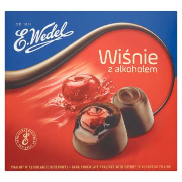 WEDEL Wiśnie z alkoholem Praliny w czekoladzie deserowej