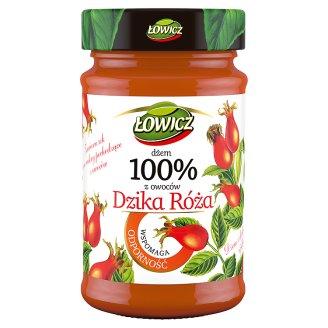 Łowicz Dżem 100% z owoców Dzika róża
