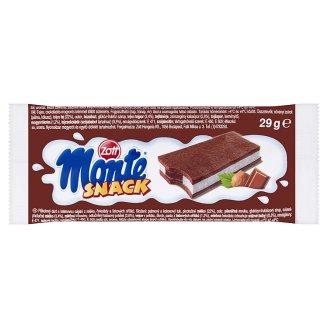 Zott Monte Snack Biszkopt z kremem mlecznym i czekoladowo-orzechowym