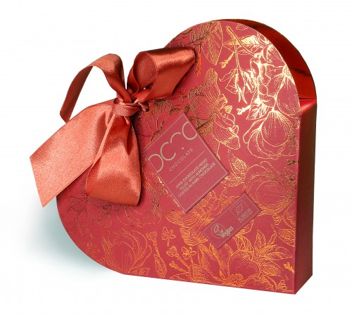 OCTOchocolate- Serce czekoladowe wypełnione migdałami w ciemnej czekoladzie