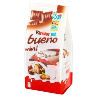 Kinder Bueno Mini Wafel w mlecznej czekoladzie wypełniony mleczno-orzechowym nadzieniem