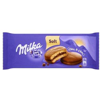 Milka Choc&Choc Ciastka biszkoptowe przekładane nadzieniem kakaowym i kawałkami czekolady