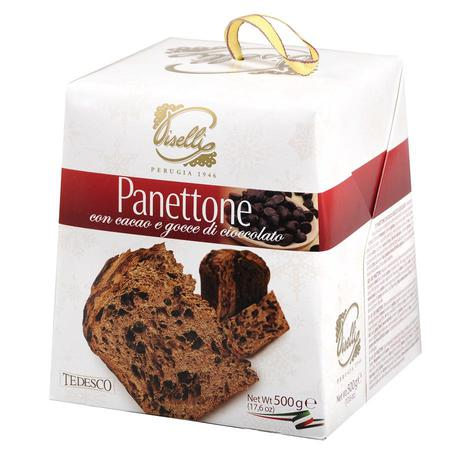 Tedesco - Panettone babka kakaowa z kawałkami czekolady