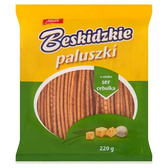Aksam Beskidzkie Paluszki o smaku ser cebulka
