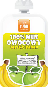 100% Mus owocowy Jabłko Banan – Menii