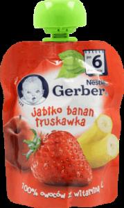 Gerber, Deserek, jabłko-banan-truskawka, po 6 miesiącu