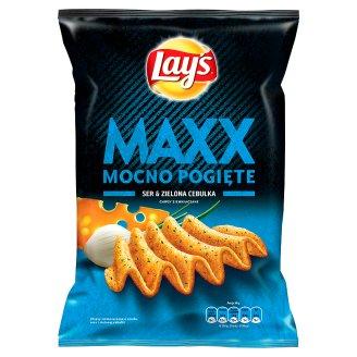 Lay's Maxx Mocno Pogięte Ser & Zielona cebulka Chipsy ziemniaczane