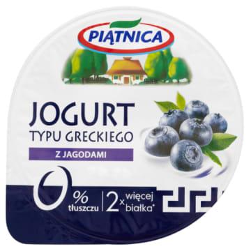 PIĄTNICA Jogurt typu greckiego 0% z jagodami