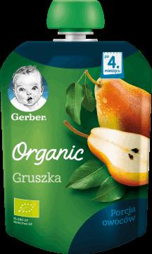 Gerber, Organic, gruszka po 4. miesiącu