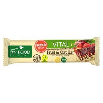 Free Food Vital Baton jabłkowo-truskawkowy z płatkami owsianymi