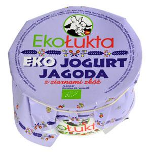 Ekołukta Ekojogurt Jagoda Z Ziarnami Zbóż