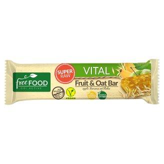 Free Food Vital Baton jabłkowo-bananowy z płatkami owsianymi