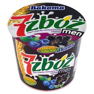 Bakoma 7 zbóż men Jogurt z jagodą czarną porzeczką i zbożami