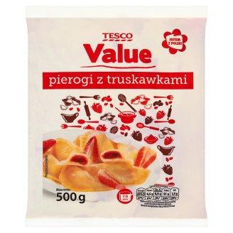 Tesco Value Pierogi z truskawkami