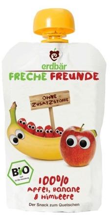 Mus Do Wyciskania Jabłko-Banan-Malina 100g EKO Erdbar Dla Dzieci